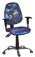 кресло Бридж хром/Дисней/Пираты/Чёрная Борода