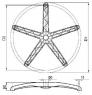 деталь - крестовина Паук 640мм